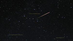 Meteor im Sternbild Kassiopeia