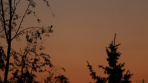 Venus am 7. Mai 2021 am West Nordwesthimmel von Eisingen