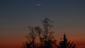 Merkur und Venus am 7. Mai 2021 am West Nordwesthimmel von Eisingen