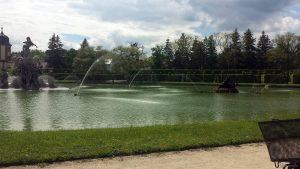 Wasserspiele im Großen See im Hofgarten Veitshöchheim