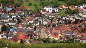 Blick vom Naturschutzgebiet Höhfeldplatte auf Erlabrunn