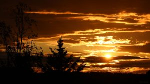 Sonnenuntergang am 24. Mai 2021