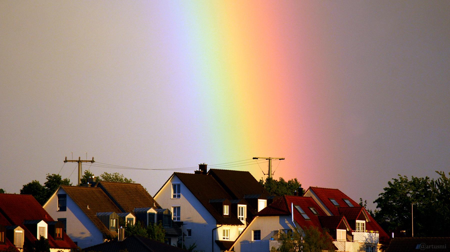 Regenbogen am 26. Mai 2021 im Süden von Eisingen