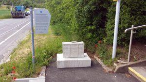 Der Koffer erinnert an die Vertriebenen und Ermordeten der 1938 zwangsaufgelösten israelitischen Kulturgemeinde Goßmannsdorf.