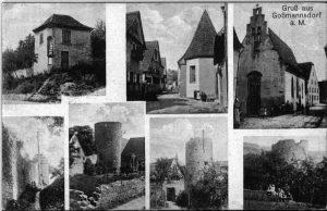 Vorderseite der Ansichtskarte aus Goßmannsdorf vom 29. November 1914