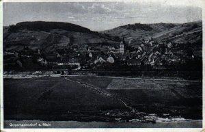 Vorderseite der Ansichtskarte aus Goßmannsdorf vom 11. September 1943