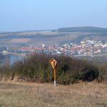 Oberhalb Zum Geier in Goßmannsdorf am Main mit Blick auf Sommerhausen