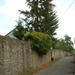 Dorfmauer unterhalb des Domherrnviertels in Goßmannsdorf am Main