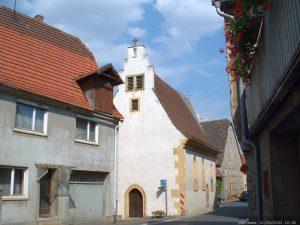 Kreuzkapelle in der Zehnthofstraße in Goßmannsdorf am Main
