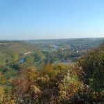 Blick vom Alten Berg auf Goßmannsdorf und Ochsenfurt am Südlichen Maindreieck