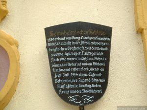 Infotafel Seinsheimisches Schloss in Marktbreit