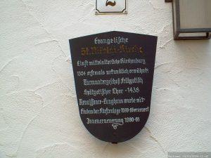 Infotafel St. Nikolei-Kirche in Marktbreit