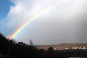 Regenbogen über Sommerhausen