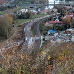 Blick vom Alten Berg auf den Neubau einer Umgehungsstraße in Goßmannsdorf am Main