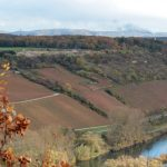 Blick vom Alten Berg in Goßmannsdorf Richtung Bullenheimer Berg