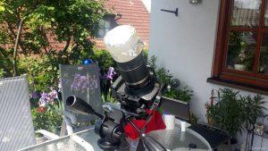 Canon EOS 600D mit selbstgebasteltem Sonnenfolienfilter