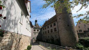 Maintor, Rathaus und Schwarzer Turm in Marktbreit