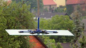 Glassscheibentransport in Eisingen mit Schwerlastkran