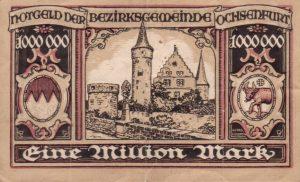 Notgeld aus dem Jahr 1923 - Eine Million - Rückseite