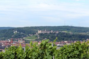 Blick vom Würzburger Schalksberg auf die Festung Marienberg