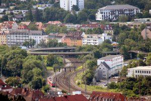 Blick vom Würzburger Schalksberg Richtung Gneisenaustraße