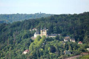 Blick vom Würzburger Schalksberg auf das Käppele