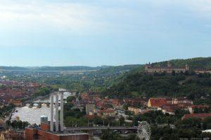 Blick vom Würzburger Stein auf die Stadt