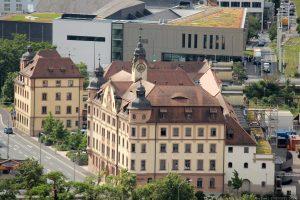 Blick vom Würzburger Stein auf Congress Centrum Würzburg