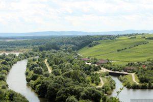 Blick von der Vogelsburg auf die Volkacher Mainschleife bei Nordheim