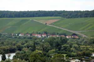 Blick von der Vogelsburg auf Köhler an Volkacher Mainschleife