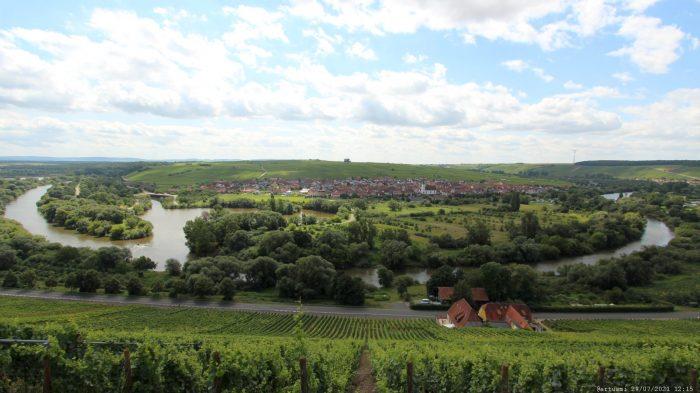 Blick von der Vogelsburg auf die Volkacher Mainschleife
