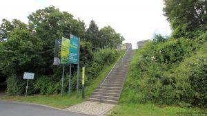 Treppenaufgang zum terroir f Volkach