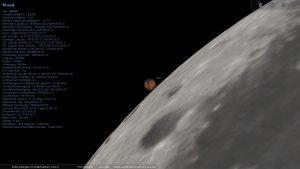 Beginn der Bedeckung des Mars durch den Erdmond am 8. Dezember 2022 um 06:03:35 Uhr