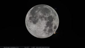 Ende der Bedeckung des Mars durch den Erdmond am 8. Dezember 2022 um 07:00:20 Uhr