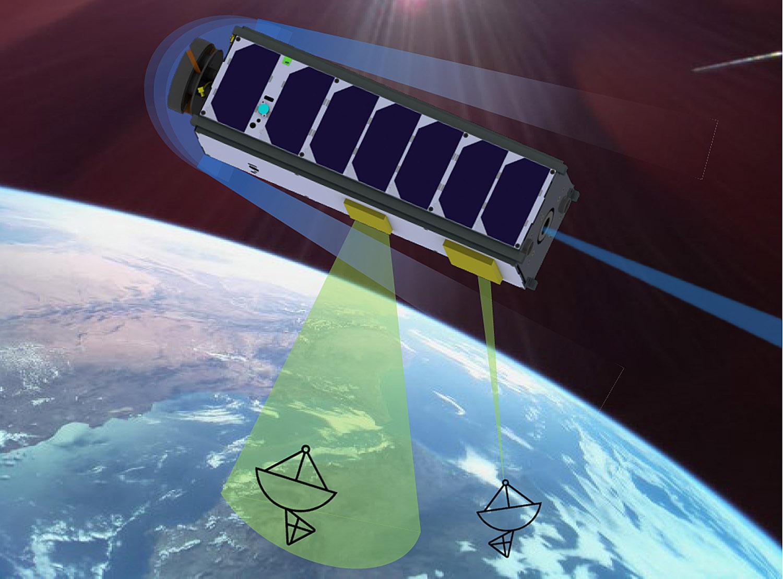 """Der Testsatellit """"LoLaSat"""" (Low Latency communication Satellite) soll in einer sehr niedrigen Umlaufbahn in circa 270 Kilometern Höhe im sogenannten Very Low Earth Orbit (VLEO) unsere Erde umkreisen."""