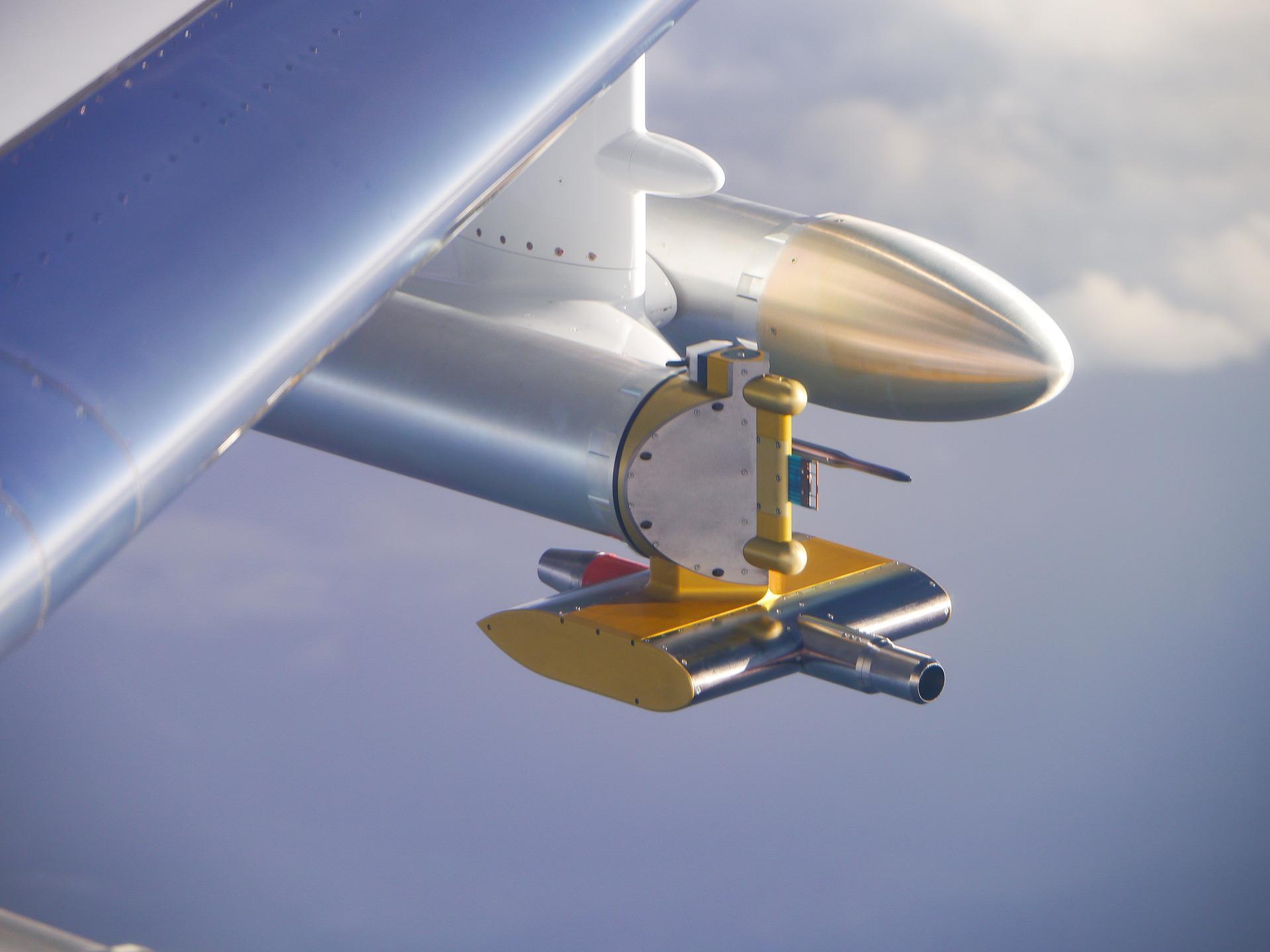 Forschungsflugzeug HALO - Wolkensonde zur Messung der Eigenschaften von Eiskristallen