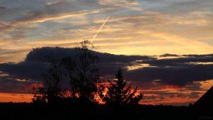 Sonnenuntergang am 6. August 2021 in Eisingen