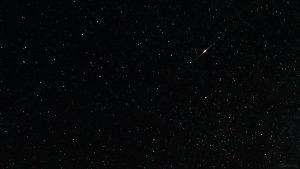 Satelliten-Flare am 12. August 2021 während der Beobachtung der Perseiden
