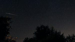 Perseiden-Sternschnuppe am 13. August 2021 am NNO-Himmel von Eisingen