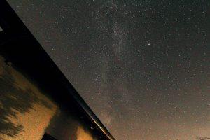 Sommerdreieck und Teil der Milchstraße am 13. August 2021 während der Perseidenbeobachtung