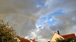 Wetterbild vom 22. August 2021 am Ende des Regentages