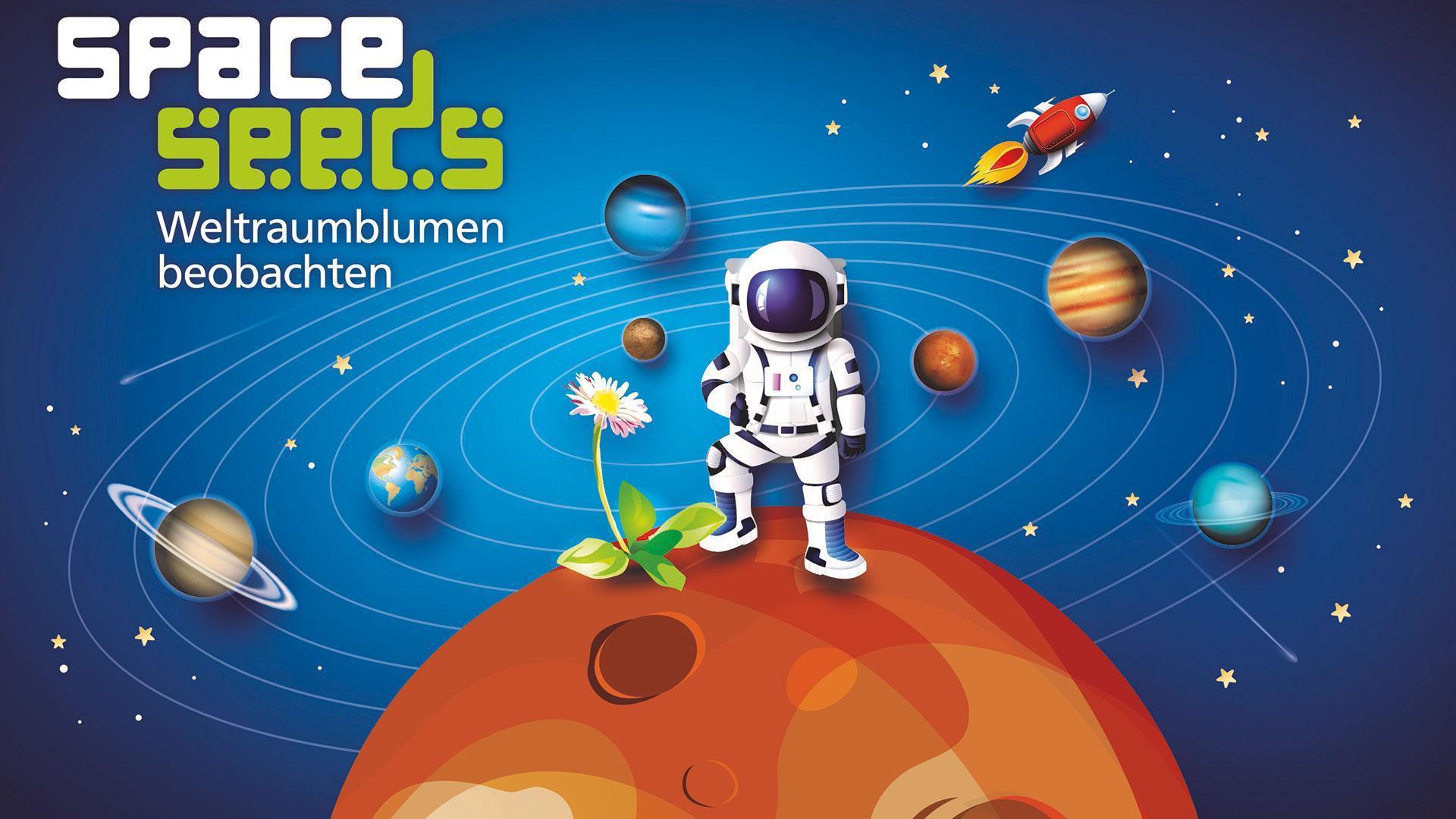 """Nationale Grundschulaktion """"Space Seeds II - Weltraumblumen beobachten"""""""