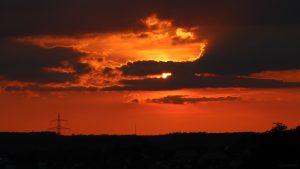 Sonnenuntergang am 1. September 2021