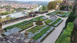 Fürstengarten der Festung Marienberg in Würzburg
