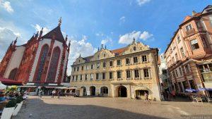 Marienkapelle und Falkenhaus am Marktplatz in Würzburg