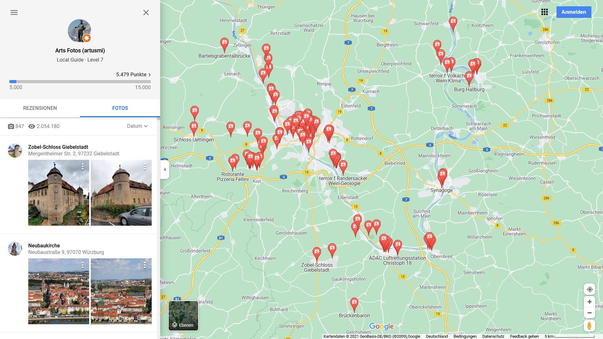 Arts Fotos auf Google Maps am 19. September 2021