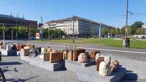 DenkOrt Deportationen am Hauptbahnhof in Würzburg
