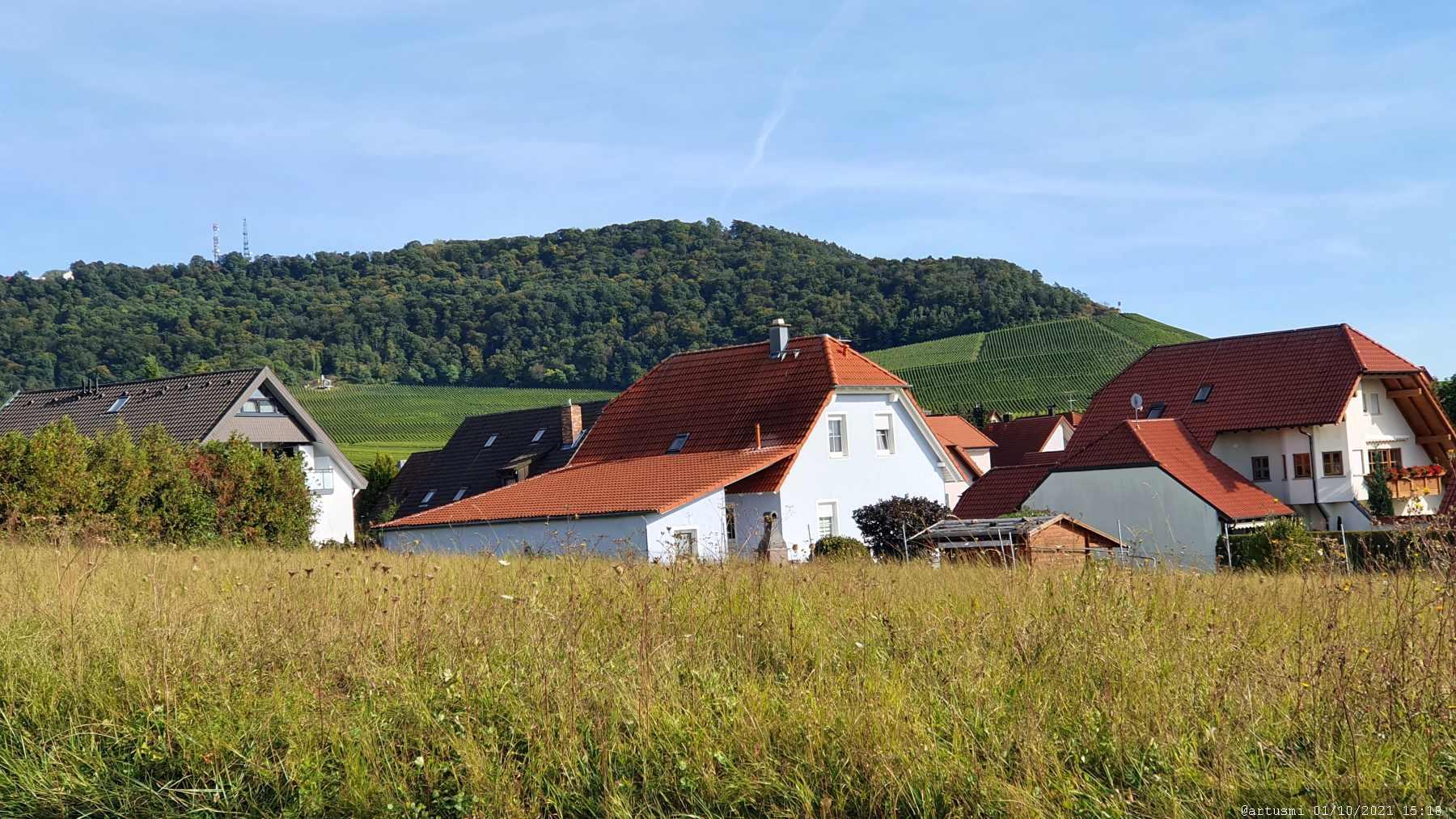 Blick von Rödelsee auf den Schwanberg