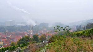 Blick von der Kapellensteige auf Frickenhausen und Ochsenfurt