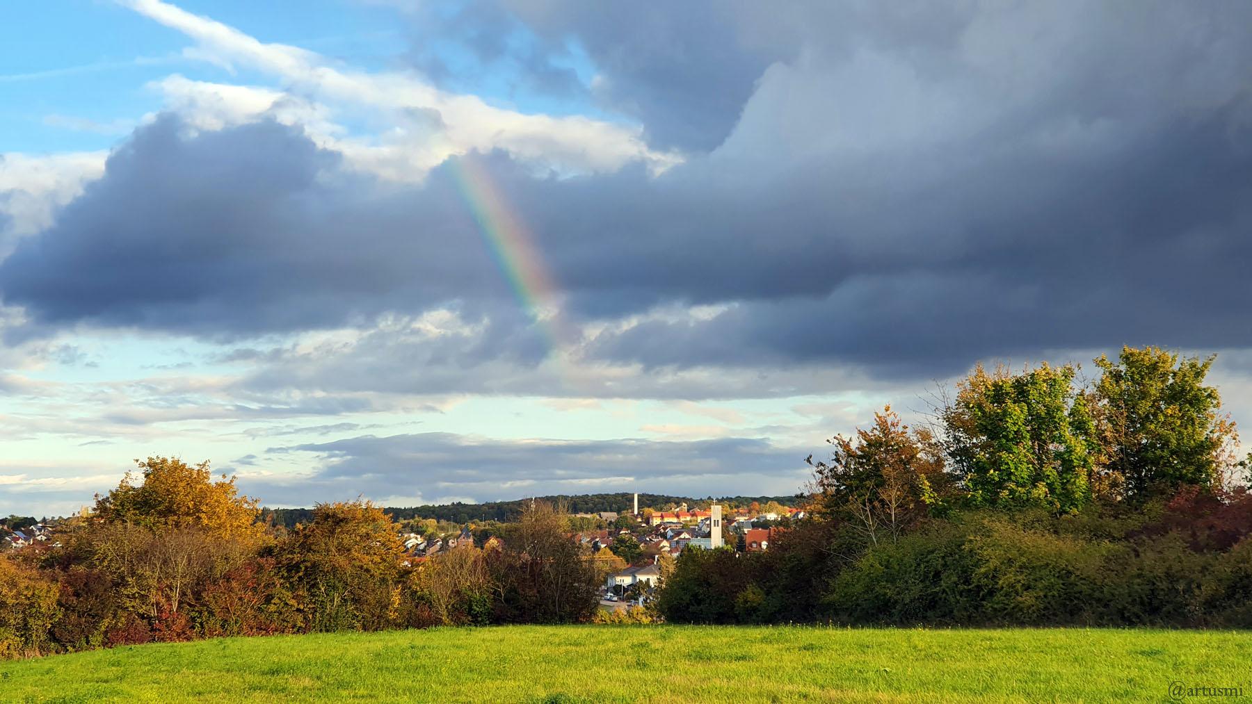 Wetterbild vom 13. Oktober 2021 aus Eisingen